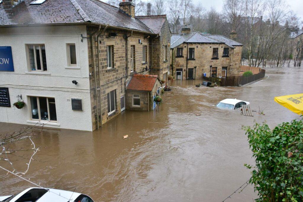 Hochwasser-Schäden.